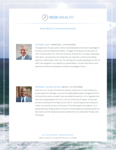 Rede Wealth Fact Sheet with Bios