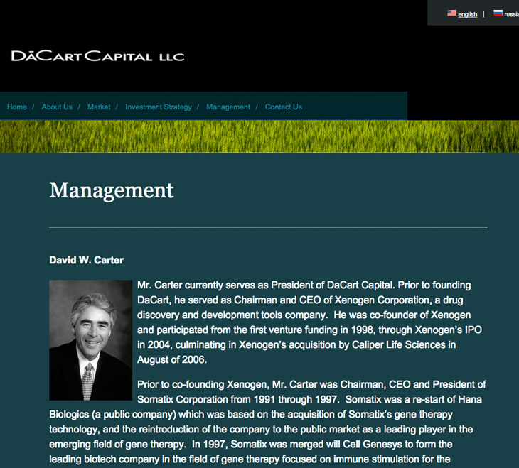 Website for DaCart Capital LLC