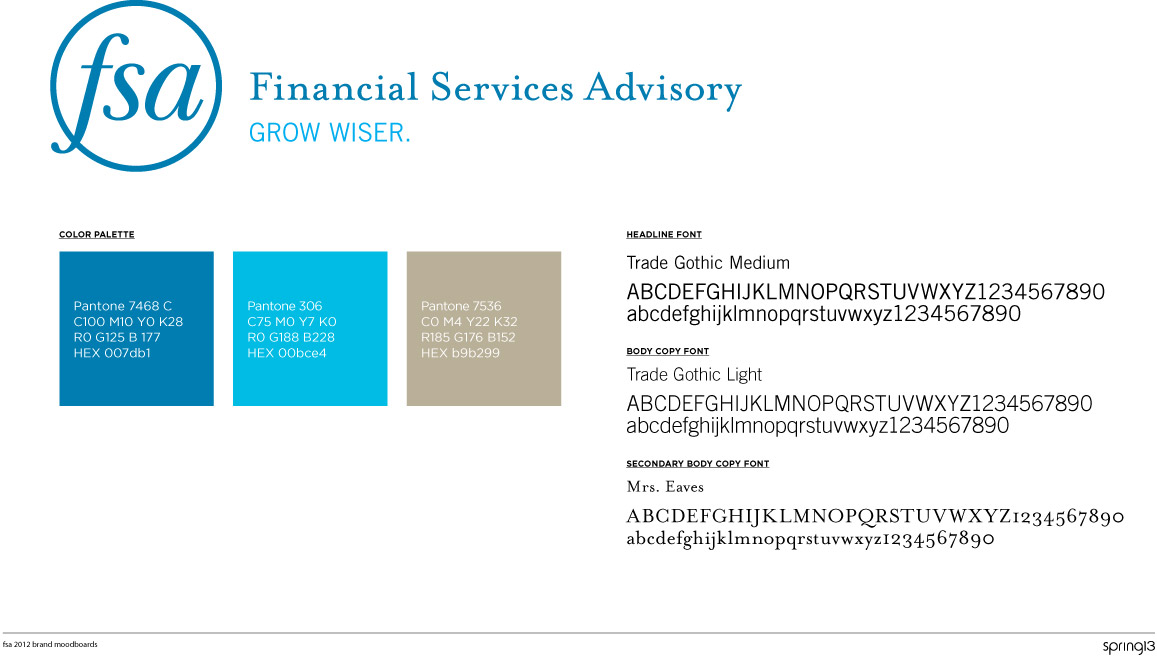 Rebranding springboard for Financial Services Advisory
