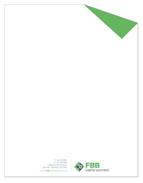 Letterhead for FBB Capital Partners