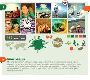 Website branding concept for Greenloons
