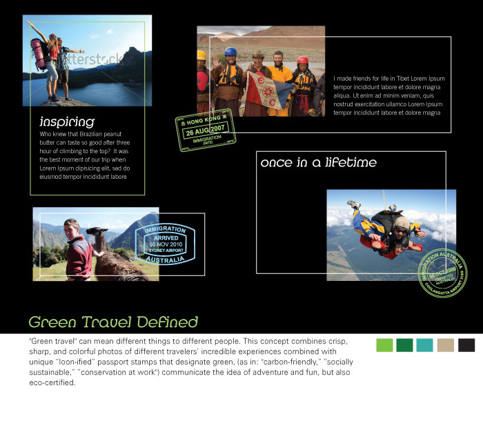 Website branding concept for Greenloons