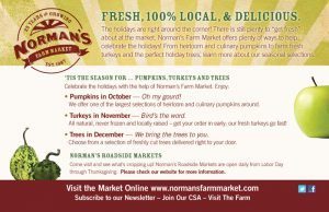 Advertisement for Norman's Farm Market