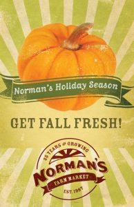 Advertisement for Norman's Farm Market