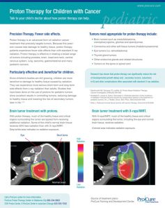 Flyer for ProCure Proton Therapy Center