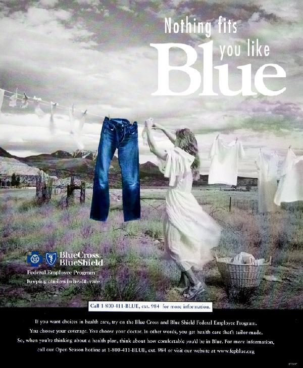 Advertisement for Blue Cross Blue Shield