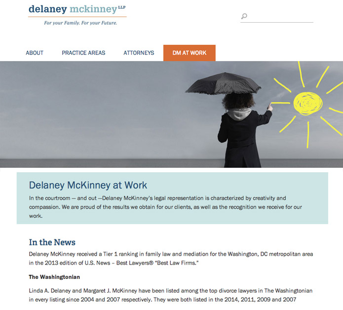 Website for Delaney McKinney LLP