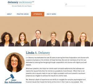 Website for Delaney McKinney LLP