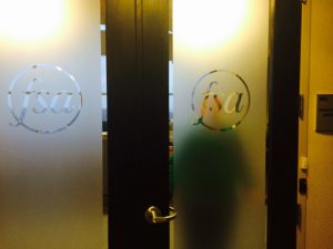Financial Services Advisory Front Door with Logo