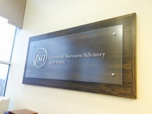 Financial Services Advisory Office Sign with Logo