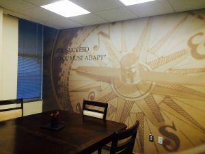 Financial Services Advisory Branded Wall Mural in Conference Room