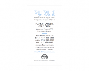 Purus Wealth Management Business Card