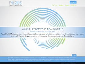 Purus Wealth Management Website Home Page