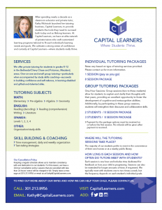 Ad for Capital Learners