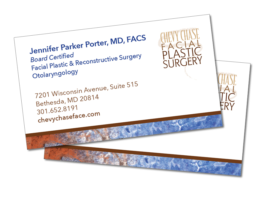 Chevy Chase Plastic Surgery Business Card