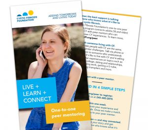 Ad for Cystic Fibrosis Foundation Peer Mentoring Program
