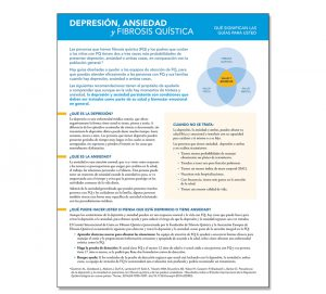 Cystic Fibrosis Foundation Spanish Language Patient Fact Sheet: Screening for Depression and Anxiety
