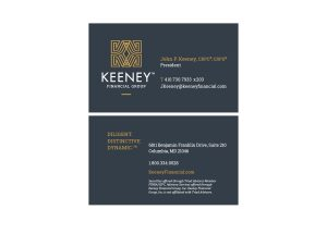 Rebrand and Redesign of Business Cards for Keeney Financial Group