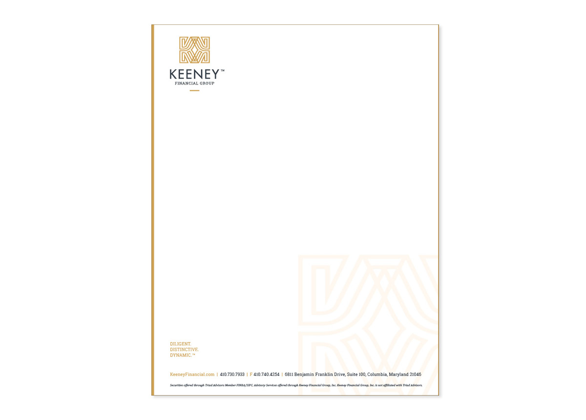 Rebrand and Redesign of Letterhead for Keeney Financial Group