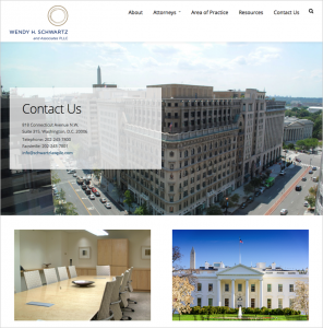 Wendy Schwartz law firm website contact page