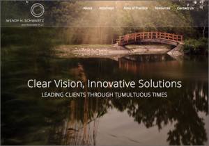 Wendy Schwartz law firm website homepage