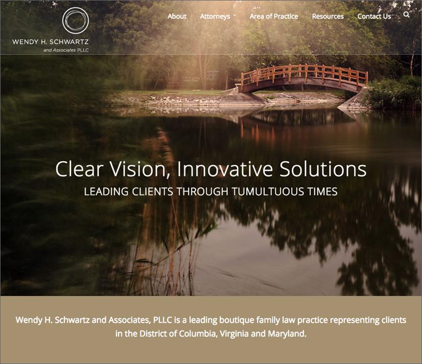 Wendy Schwartz law firm website home page