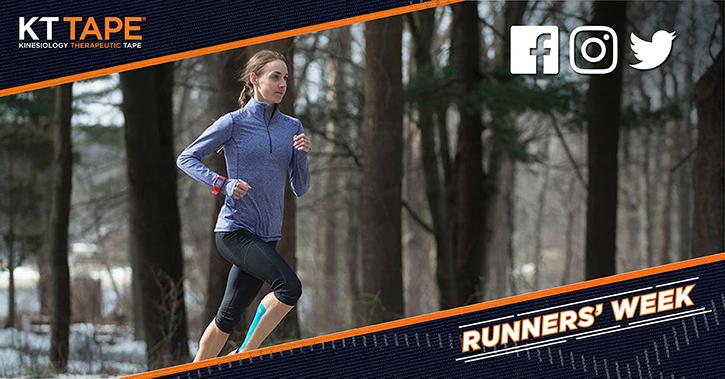 Social Media Post for KT Tape promoting Runners' Week for 2017 Boston Marathon