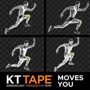 Social Media Post for KT Tape featuring Muybridge-Inspired Illustration