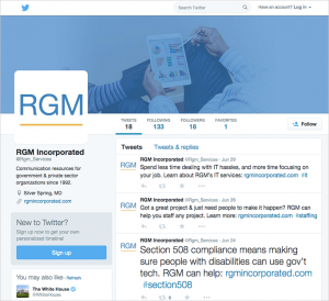 Twitter Graphics for RGM Incorporated