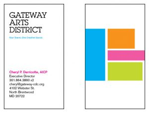 Business Card for Gateway Arts District