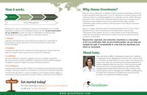 Brochure for Greenloons eco-travel