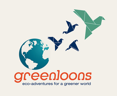 Logo for Greenloons eco-adventures for a greener world