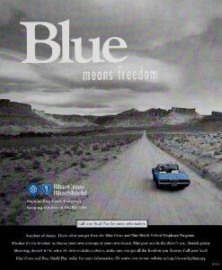 Advertisement for Blue Cross Blue Shield