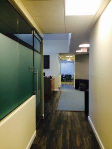 Financial Services Advisory Interior Shot of Office Hallway