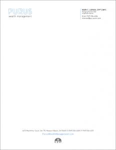 Purus Wealth Management Letterhead