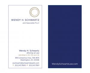 Wendy H. Schwartz Law Business Card