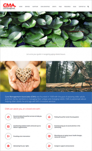 Care Management Associates Website Home Page