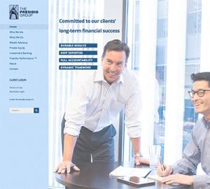 Presidio Group Website Home Page