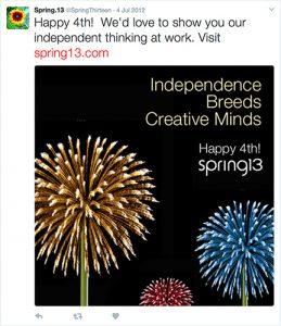 Fourth of July Fireworks Tweet