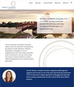 Wendy Schwartz law firm website About page