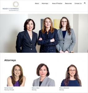 Wendy Schwartz law firm website attorneys page