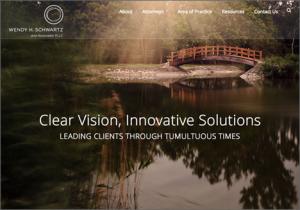 Wendy Schwartz law firm website homepage