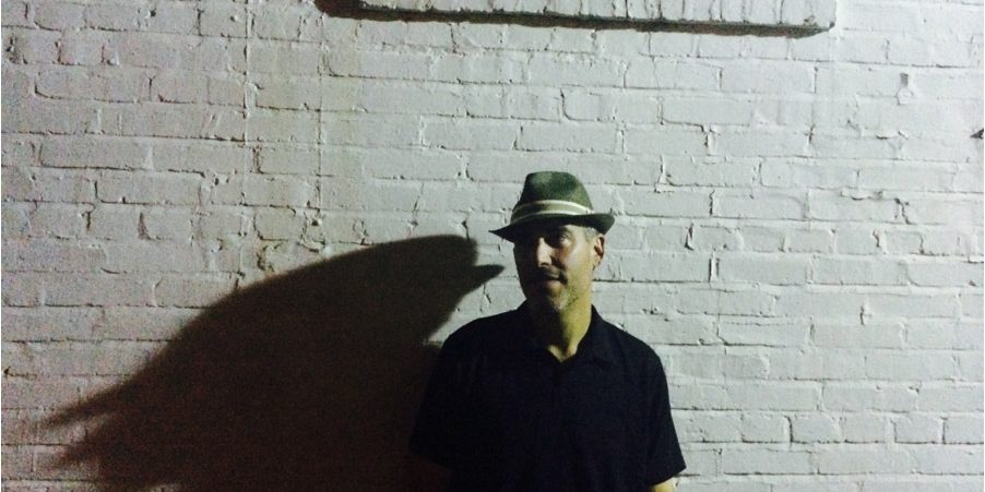 Bassist Scott of the Full Blown Hysterics Band in a Washington DC alley after performing at Jakes pub