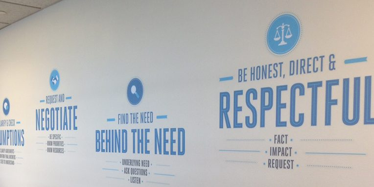 Financial Services Advisory Wall of Values Mural / Graphics